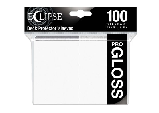 Ultra Pro Sleeves - 100 count - Standard Sized - Gloss Arctic White - Collector's Avenue