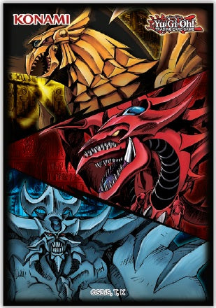 YuGiOh! Konami Card Sleeves 50 Pack Small Size: Slifer, Obelisk & Ra - Collector's Avenue