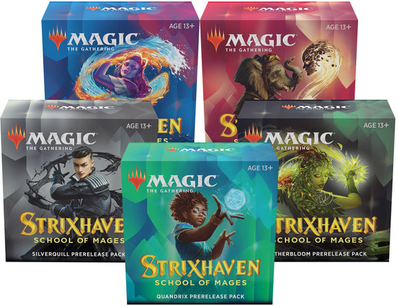 Mtg Magic The Gathering Strixhaven Prerelease Pack - Set of 5 - Collector's Avenue