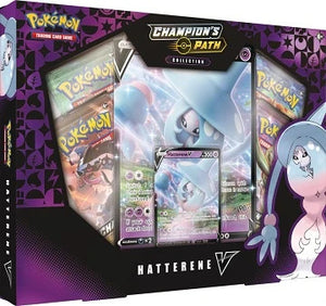 Pokemon Champion's Path Hatterene V Collection Box - Collector's Avenue