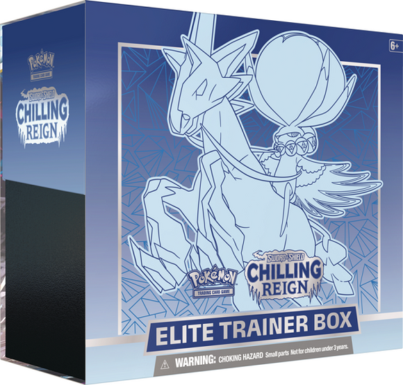 Pokemon Sword and Shield Chilling Reign Ice Rider Calyrex Elite Trainer Box - Collector's Avenue