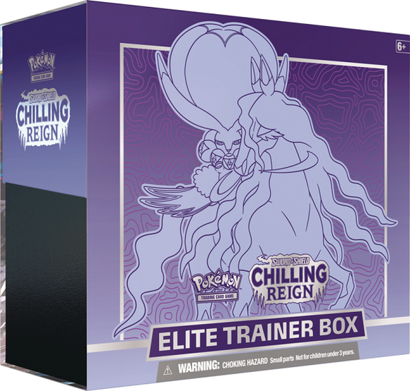 Pokemon Sword and Shield Chilling Reign Shadow Rider Calyrex Elite Trainer Box - Collector's Avenue