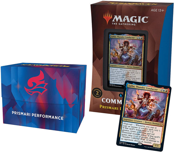 Mtg Magic The Gathering Strixhaven Commander 2021 - Prismari Performance (Blue-Red) - Collector's Avenue