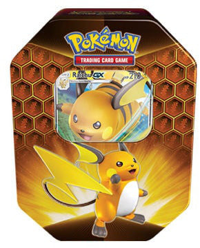 Pokemon Hidden Fates Raichu GX Tin - Collector's Avenue