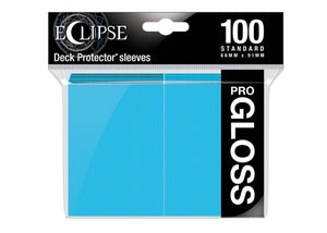 Ultra Pro Sleeves - 100 count - Standard Sized - Gloss Sky Blue - Collector's Avenue