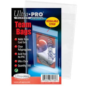 Ultra Pro - Resealable Team Bags 100ct - Collector's Avenue