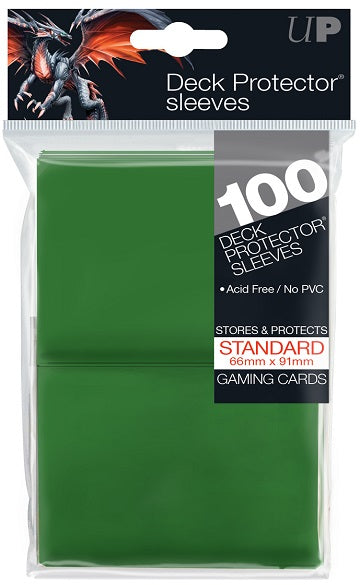Ultra PRO 100ct Green Standard Deck Protectors - Collector's Avenue