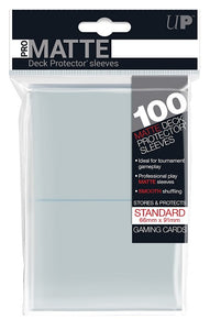 Ultra PRO 100ct Pro-Matte Clear Standard Deck Protectors - Collector's Avenue