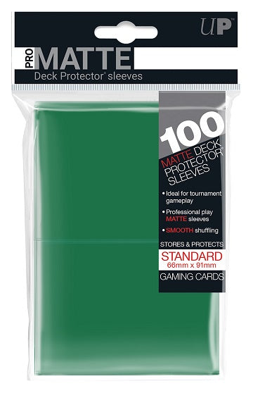 Ultra PRO 100ct Pro-Matte Green Standard Deck Protectors - Collector's Avenue