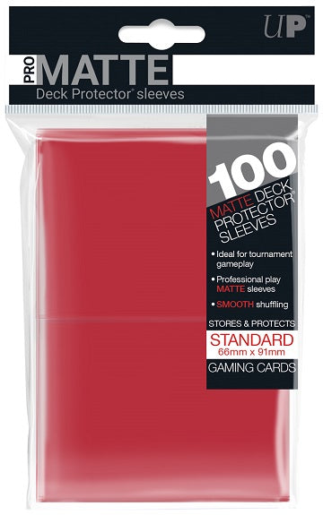 Ultra PRO 100ct Pro-Matte Red Standard Deck Protectors - Collector's Avenue