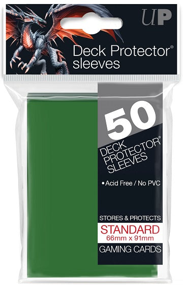 Ultra PRO 50ct Green Standard Deck Protectors - Collector's Avenue