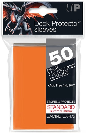 Ultra PRO 50ct Orange Standard Deck Protectors - Collector's Avenue