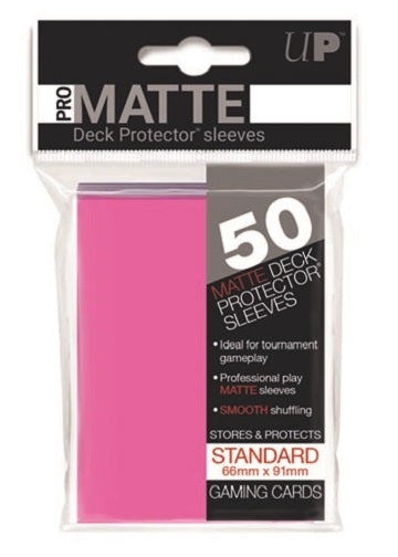 Ultra PRO 50ct Pro-Matte Bright Pink Standard Deck Protectors - Collector's Avenue