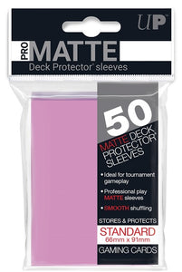 Ultra PRO 50ct Pro-Matte Pink Standard Deck Protectors - Collector's Avenue