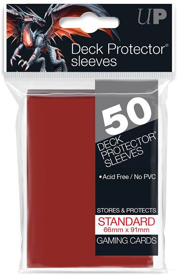 Ultra PRO 50ct Red Standard Deck Protectors - Collector's Avenue