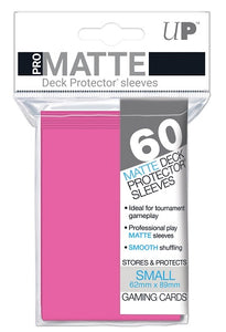 Ultra PRO Pro-Matte Small Deck Protectors 60ct Bright Pink - Collector's Avenue