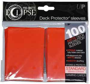 Ultra Pro Sleeves - 100 count - Standard Sized - Pro-Matte Eclipse Red - Collector's Avenue