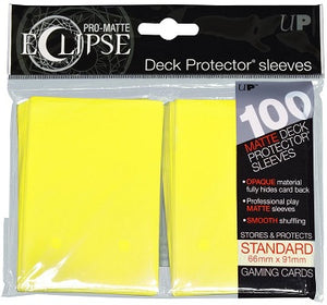 Ultra Pro Sleeves - 100 count - Standard Sized - Pro-Matte Eclipse Yellow - Collector's Avenue