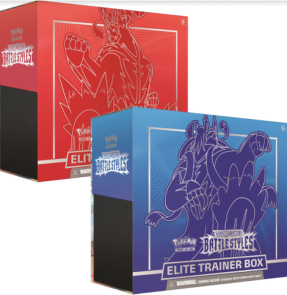 Pokemon Sword And Shield Battle Styles Rapid Elite Trainer Box ( Set of 2) - Collector's Avenue