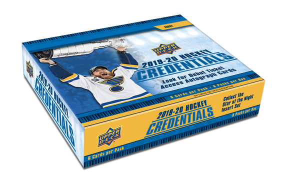 2019-20 Upper Deck Credentials Hockey Hobby Box - Collector's Avenue