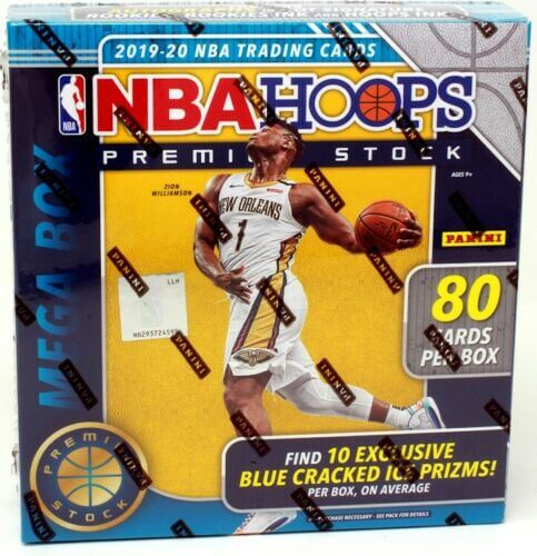 2019-20 Panini NBA Hoops Premium Stock Basketball 80 Card Mega Box Blue - Collector's Avenue