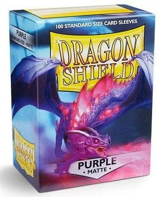 Dragon Shield Matte - standard size - 100 ct. Purple - Collector's Avenue