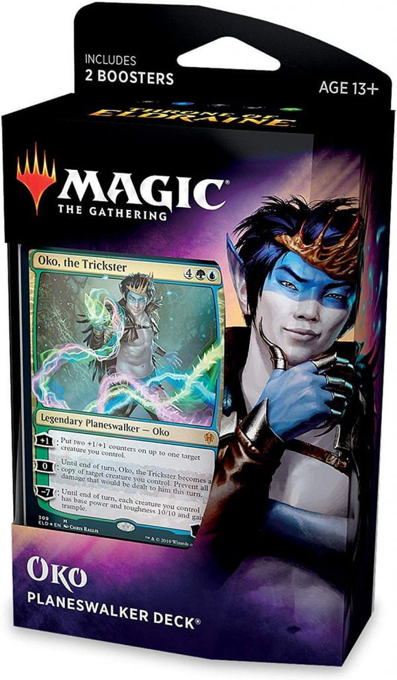Mtg Magic The Gathering Throne of Eldraine Planeswalker Deck Oko - Collector's Avenue
