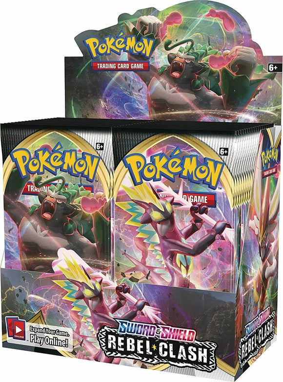 Pokemon Sword & Shield Rebel Clash Booster Box - Collector's Avenue