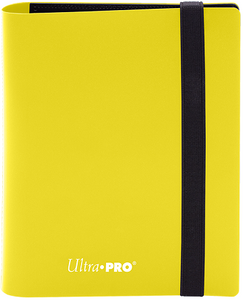 Ultra PRO 4-Pocket Eclipse Pro-Binder - Lemon Yellow - Collector's Avenue