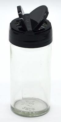 1/2 Cup Clear Glass Spice Jar