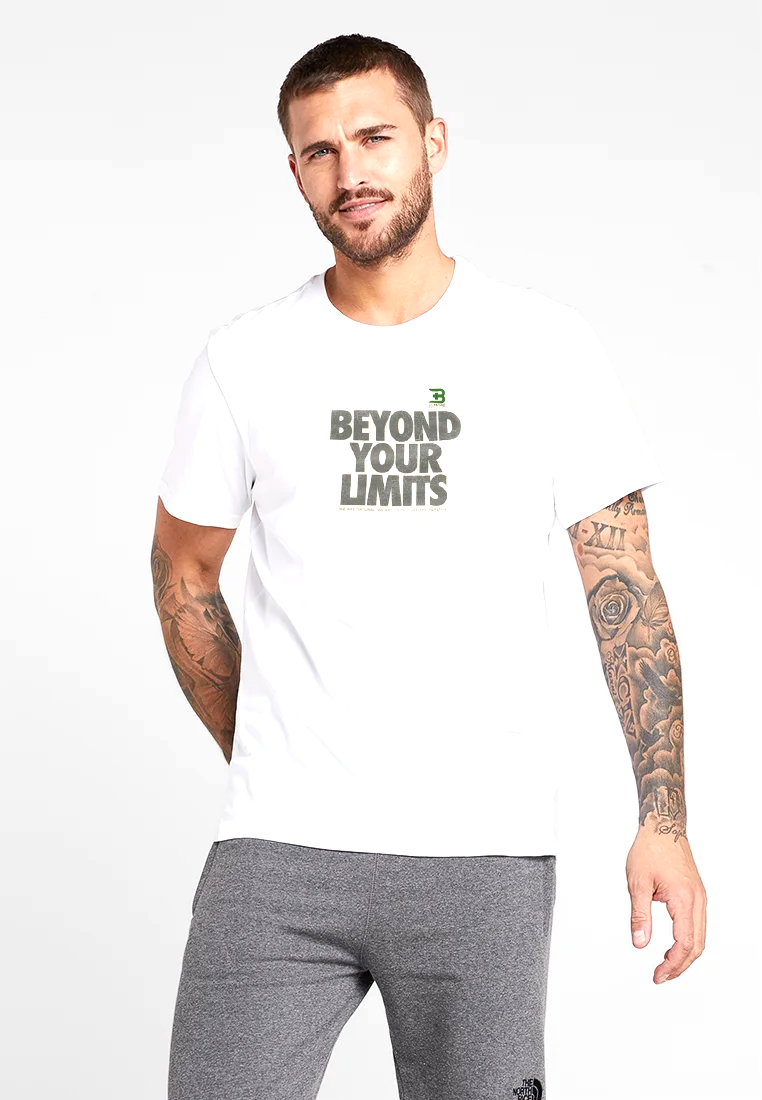 CAMISETA BEYOND YOUR LIMITS 100% ALGODÓN