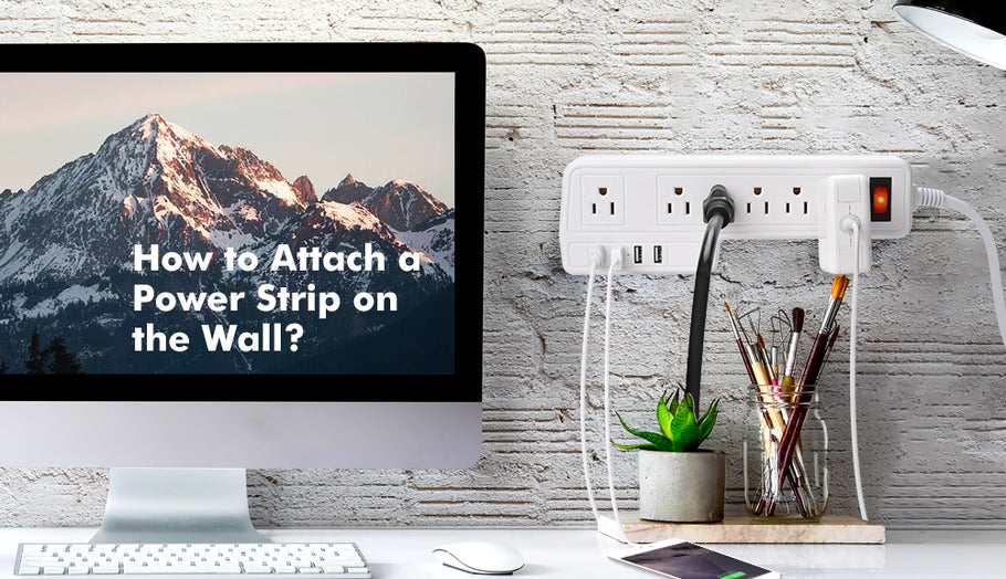 How to Attach a Power Strip on the Wall?