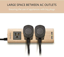 Load image into Gallery viewer, Surge Protector Power Strip 9.8ft Extension Cord 3 Outlet 2 USB Wood Grain