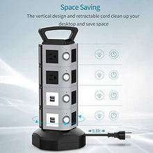 Load image into Gallery viewer, Surge Protector Tower with 9.8ft