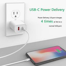 Load image into Gallery viewer, USB C Charger Type C Wall Charger 18W