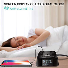 将图片加载到图库查看器,SUPERDANNY Alarm Clock Charger Power Strip Surge Protector UL Approval USB 3.2A Charging Station 2 Outlets 6.5ft Extension Cord for iPhone iPad Samsung Computer Home Dorm Hotel Bedside Black