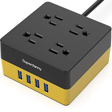Load image into Gallery viewer, SDC018-2-power strip square yellow