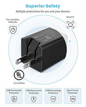 Load image into Gallery viewer, UL Listed USB Wall Charger 2 Pack with 3.28ft Lightning Cable & Type-C Cable
