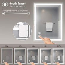 Load image into Gallery viewer, 27 x 19 inch LED Light Vanity Bathroom Mirror IP54, 6000K Cool White