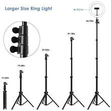 "Load image into Gallery viewer, 10"" Selfie Ring Light with Tripod Stand"