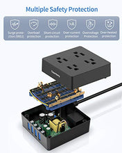Load image into Gallery viewer, USB Power Strip Surge Protector with 4 Smart USB Ports, 5ft