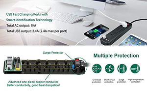Power Strip USB Surge Protector 3 USB