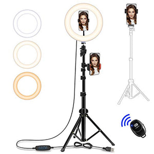 "10"" Selfie Ring Light with Tripod Stand"