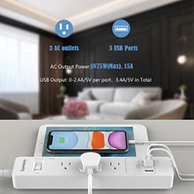 Load image into Gallery viewer, 15A Mountable Surge Protector Power Strip