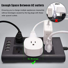 Load image into Gallery viewer, Power Strip Flat Plug Gray Black