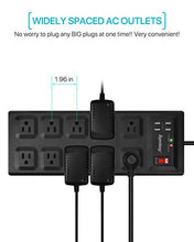 Load image into Gallery viewer, Mega Power Strip Flat Plug Black/White