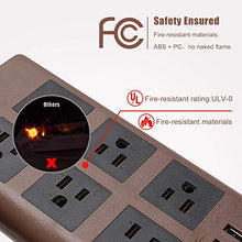 Load image into Gallery viewer, Power Strip Flat Plug Dark Brown