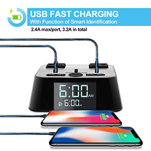 Alarm Clock Charger Power Strip