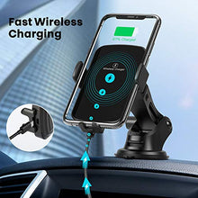 Load image into Gallery viewer, Wireless Car Charger 10W Auto Clamping Dashboard