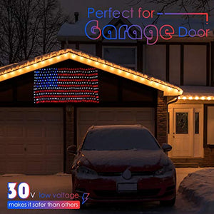 American Flag Lights with 420 LEDs